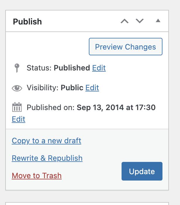 publish or edit