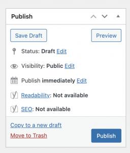 draft or publish
